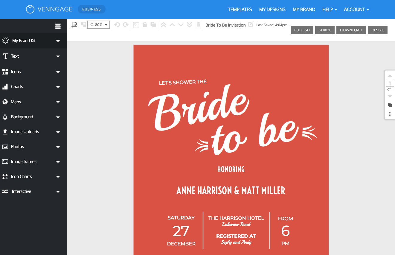 online bridal shower invitation maker