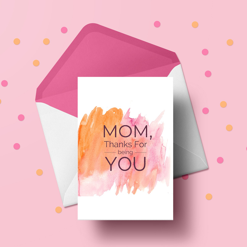 Colorful Mother's Day Card Template 2