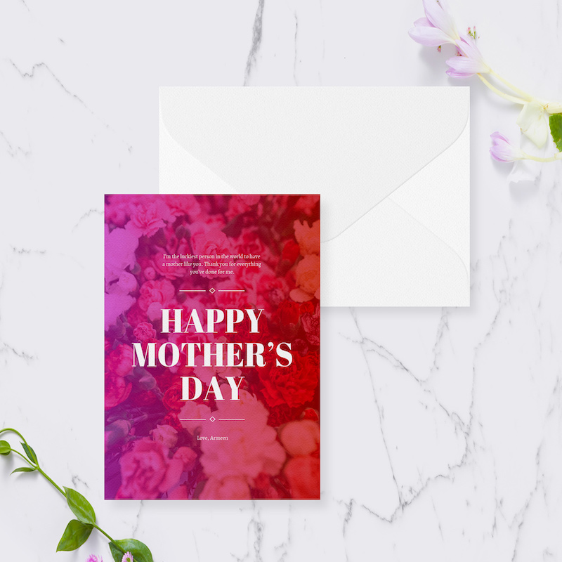 Creative Mother's Day Card Templatte