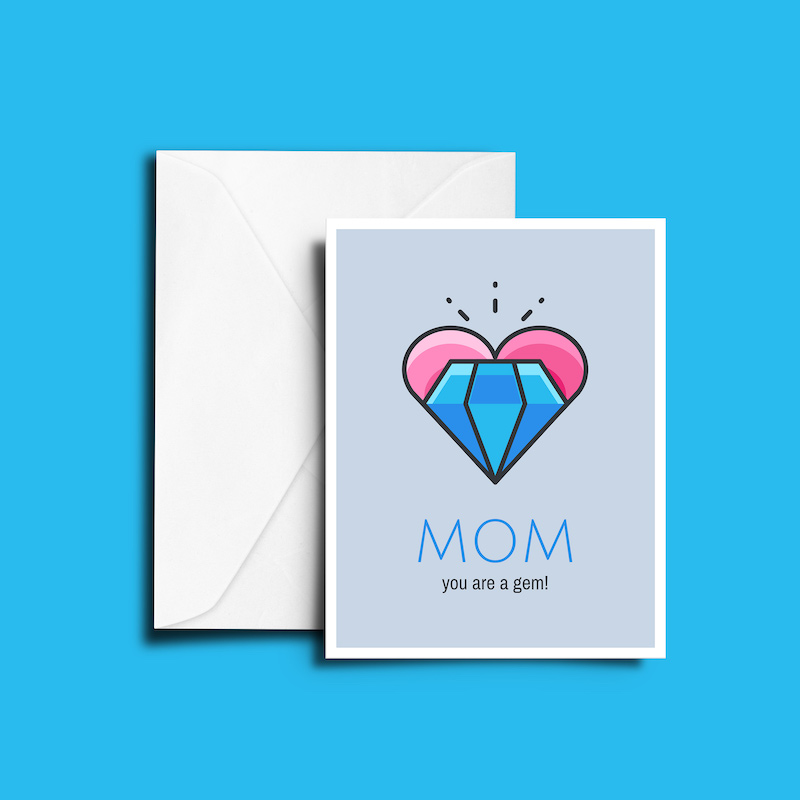 Cute Mothers Day Card Template1