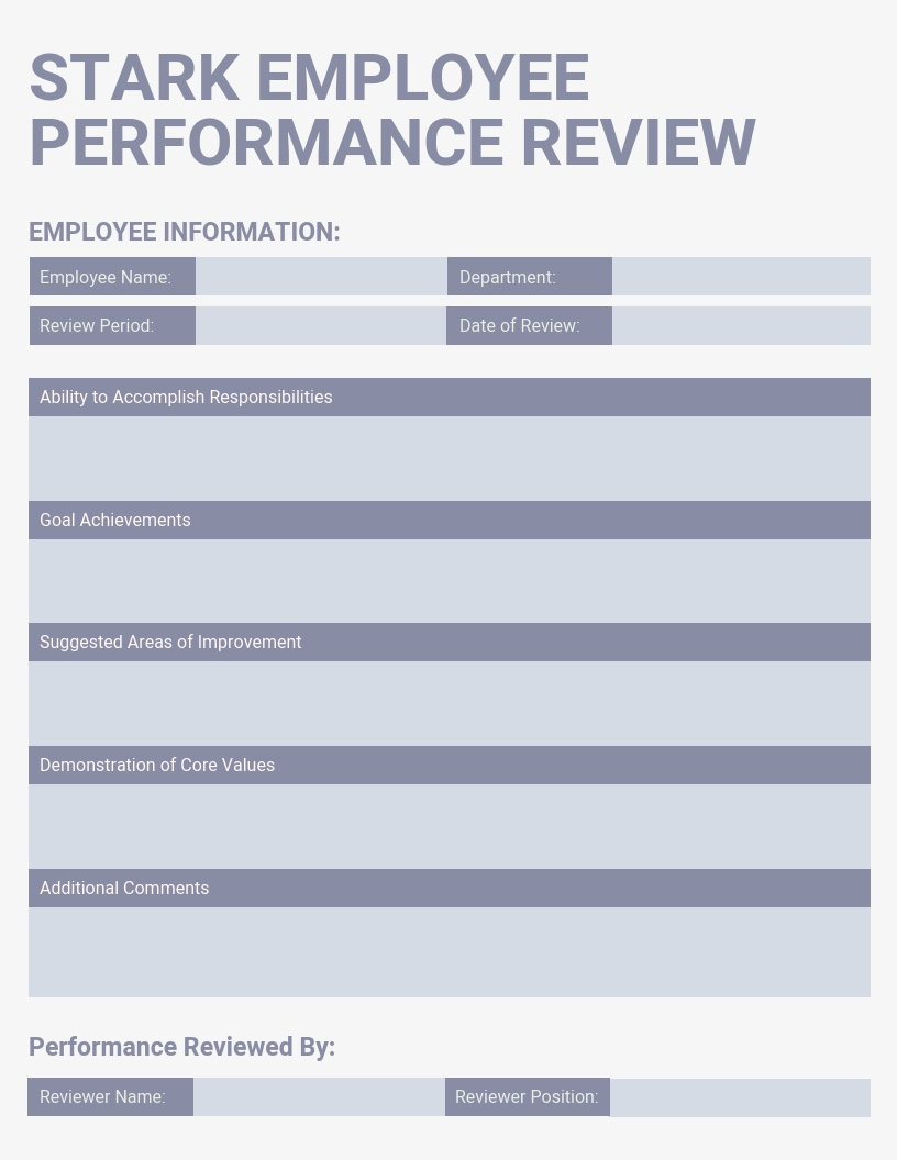 Light-Employee-Performance-Review-Template Quarterly Performance Summary Examples on report sample templates, review form, review format, review template examples, splits quarter date, report format, review sample,