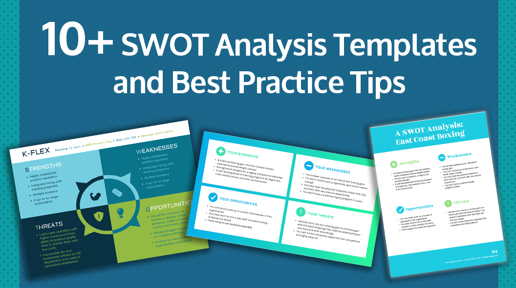 20  swot analysis templates  examples  u0026 best practices