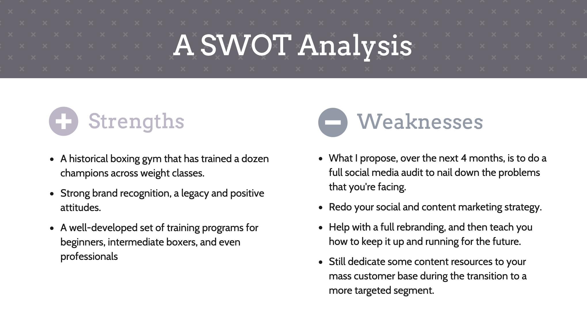 Swot analysis sxw template