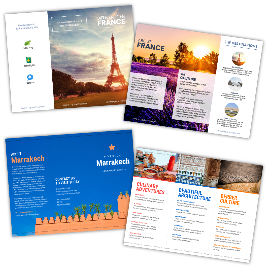 travel brochure templates - make a travel brochure