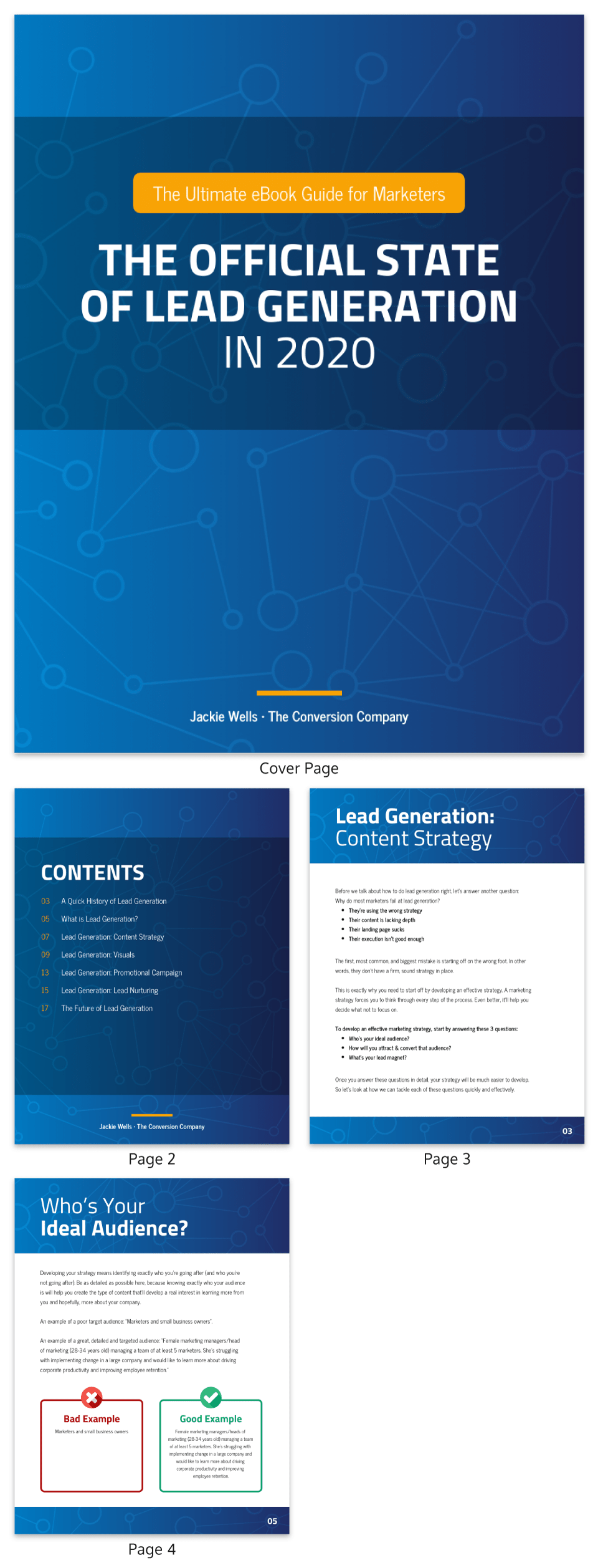 Blue Technology Simple eBook Template