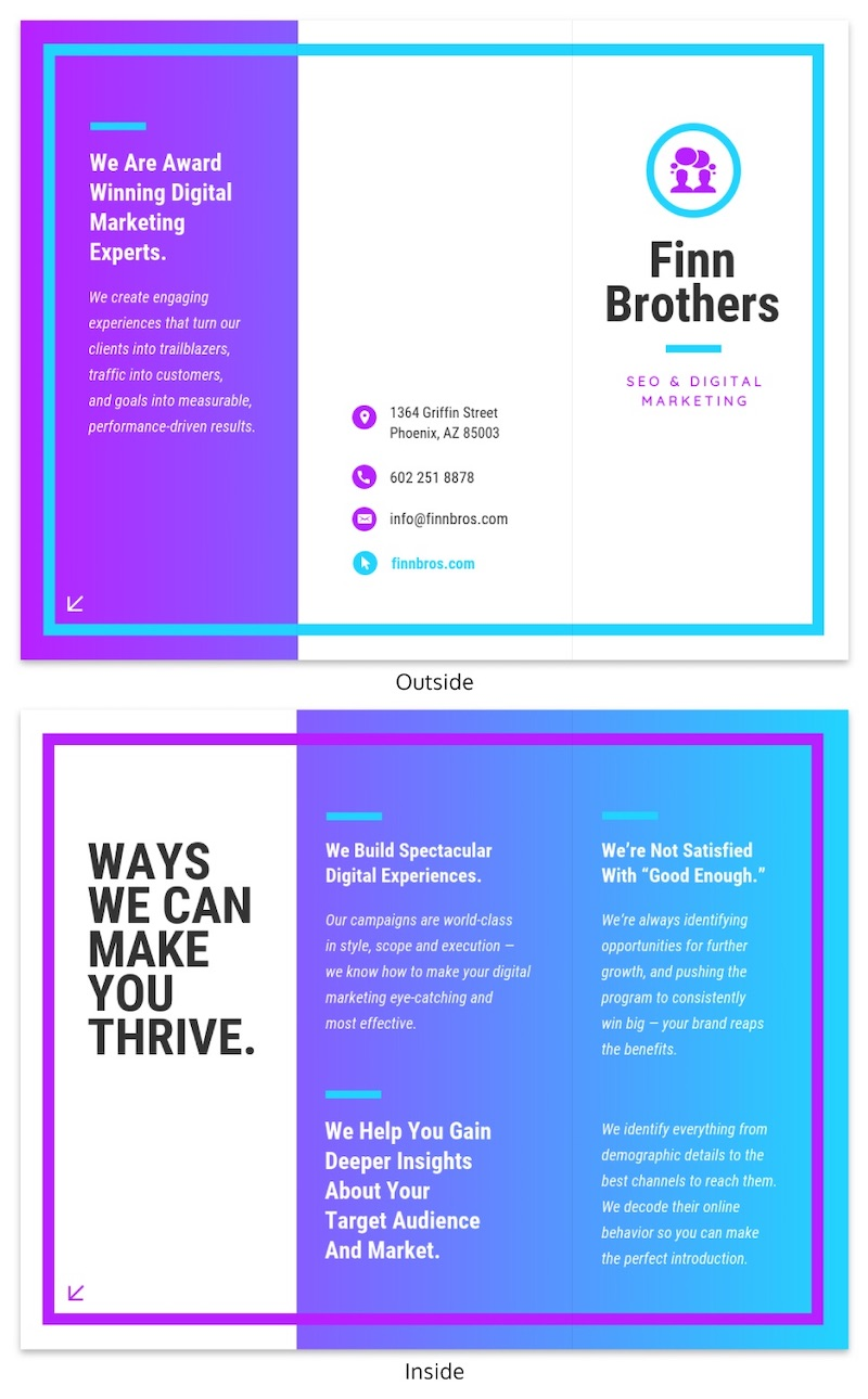 Colorful Tri Fold Marketing Brochure Template