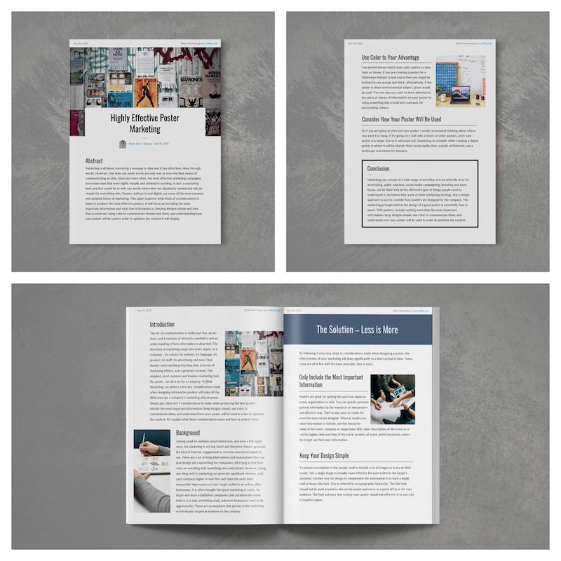 Creative Modern Marketing White Paper Examples
