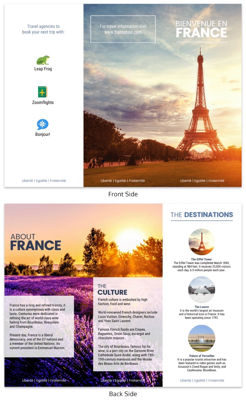 Creative Travel Tri Fold Brochure Template