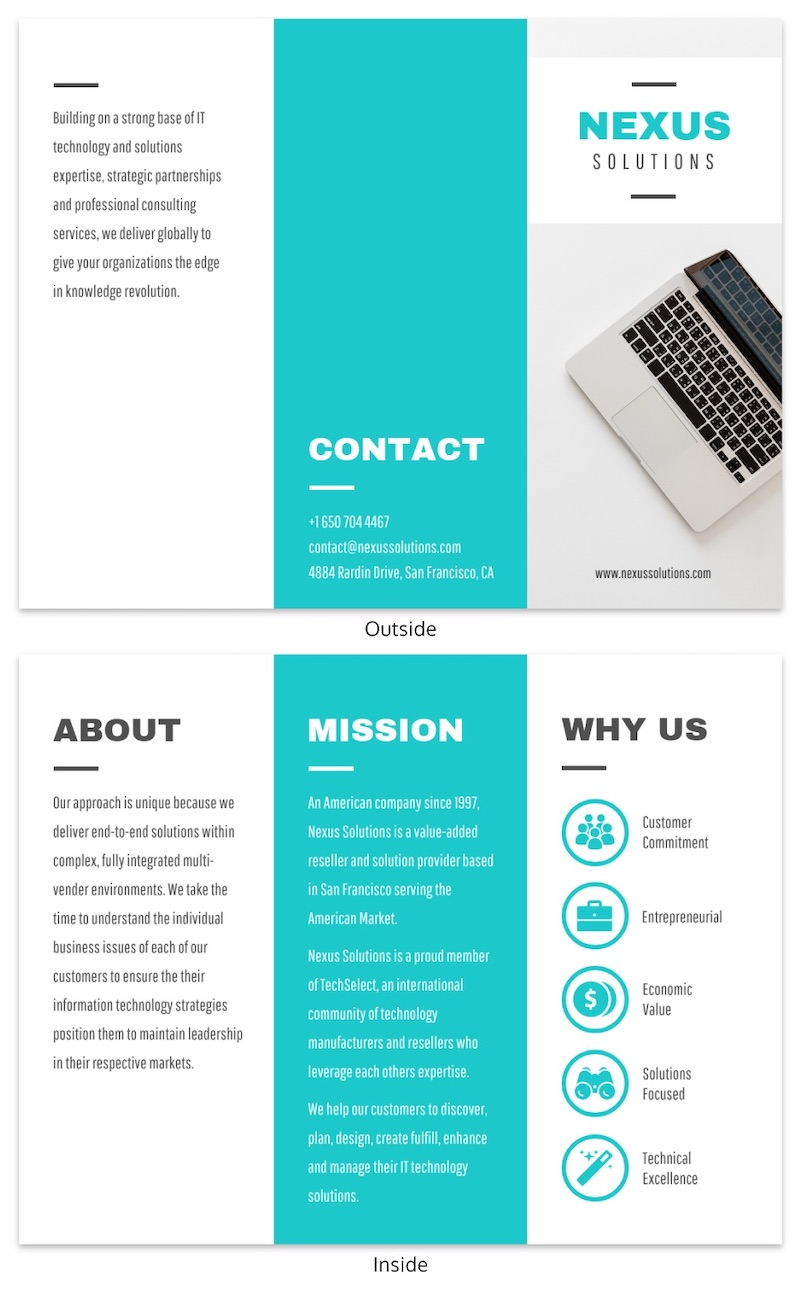Minimalist Tech Brochure Template