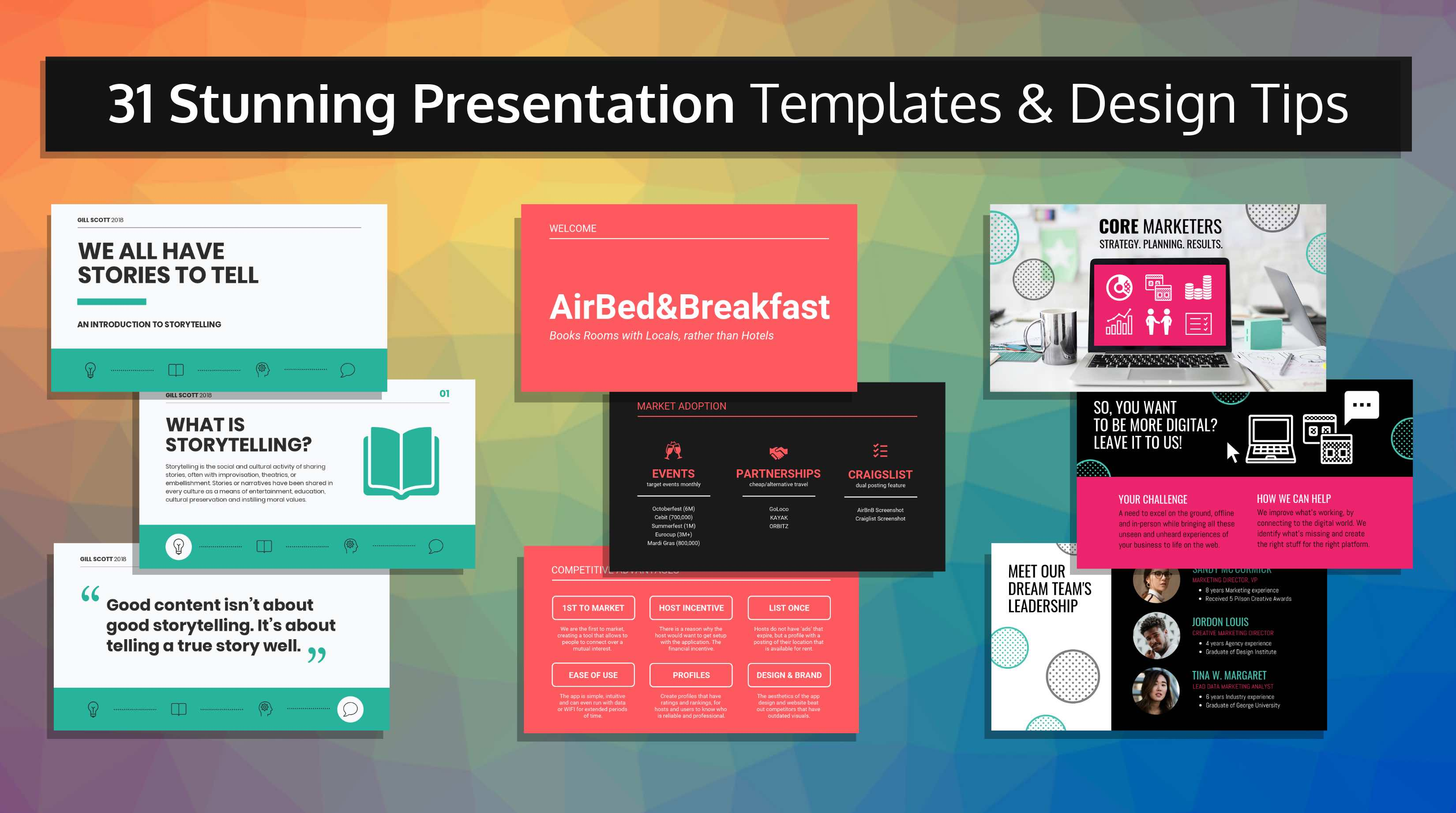 presentation templates blog header