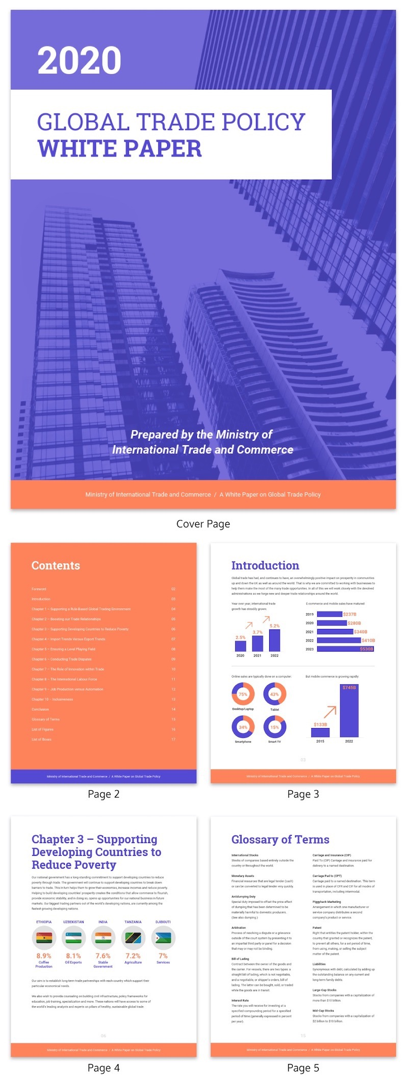 Purple Modern Business White Paper Examples