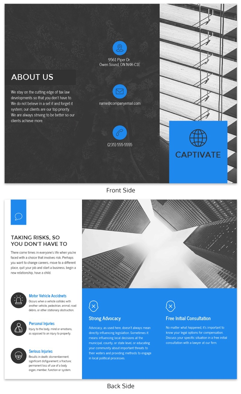 Simple Business Tri Fold Brochure Template
