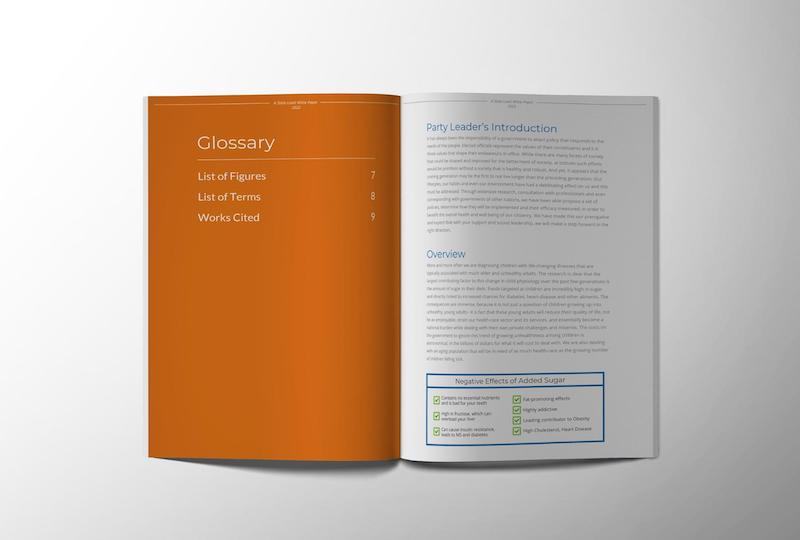 Simple Orange White Paper Examples