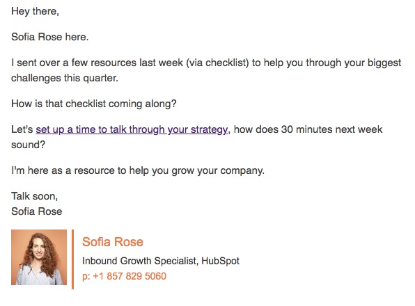 State of Lead Generation Email Example 4