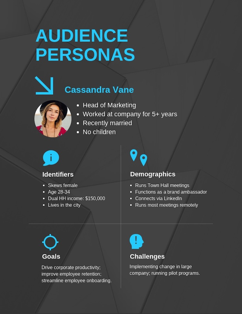 State of Lead Generation User Persona Template