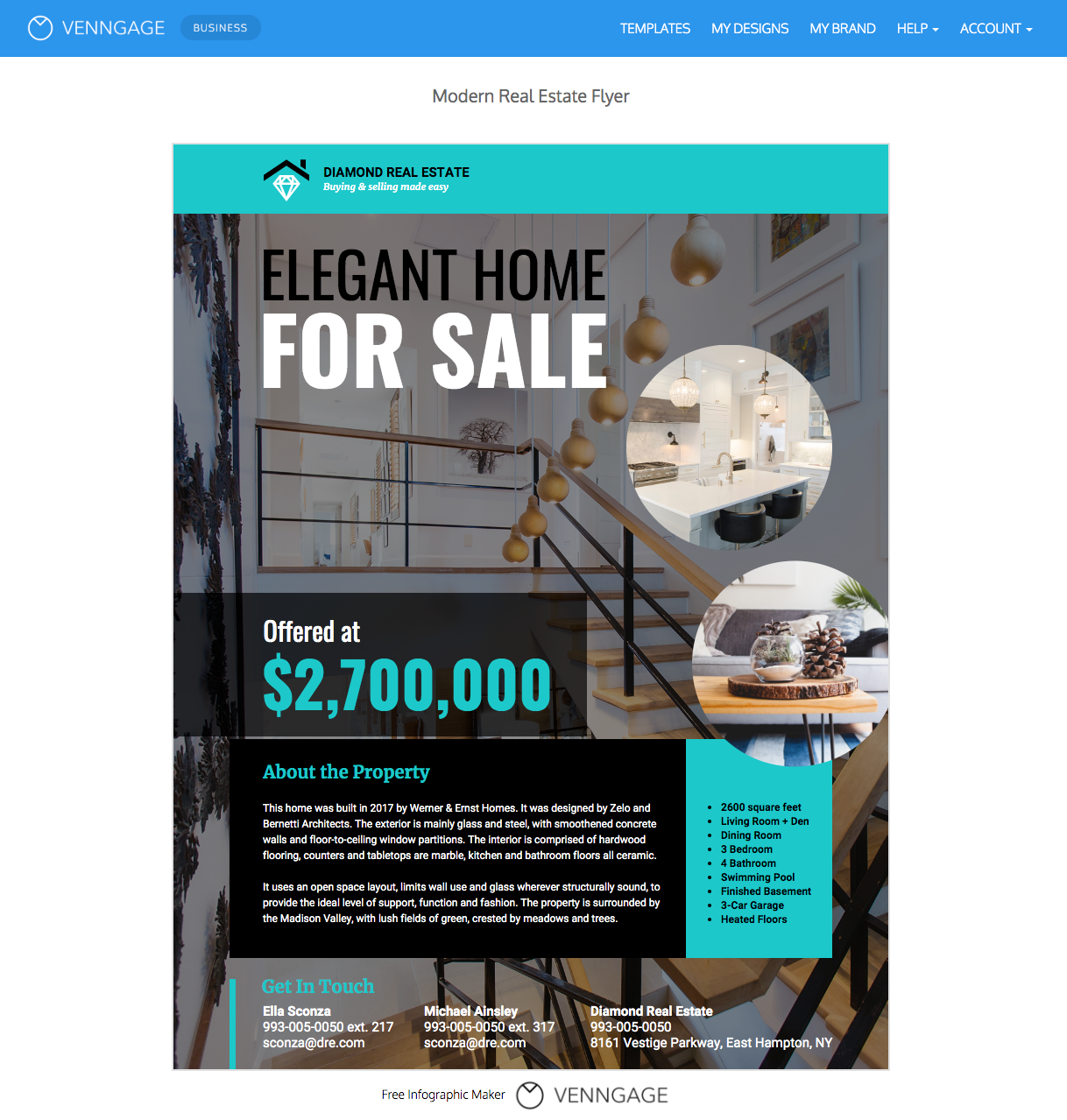 Real Estate Flyer Templates By Venngage