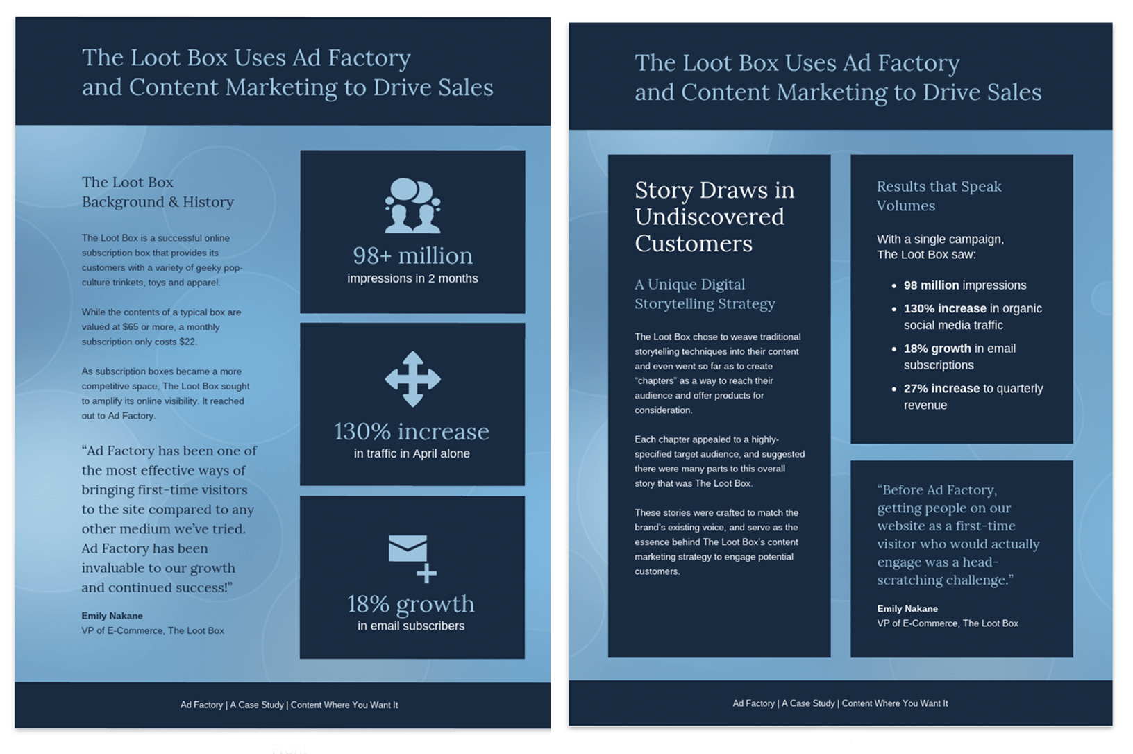 Blue Content Marketing Case Study Tempalte