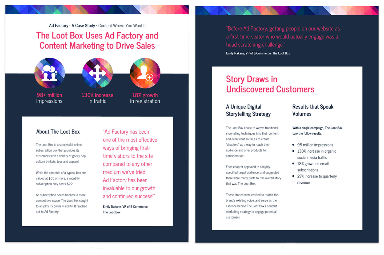 Bold Content Marketing Case Study Template