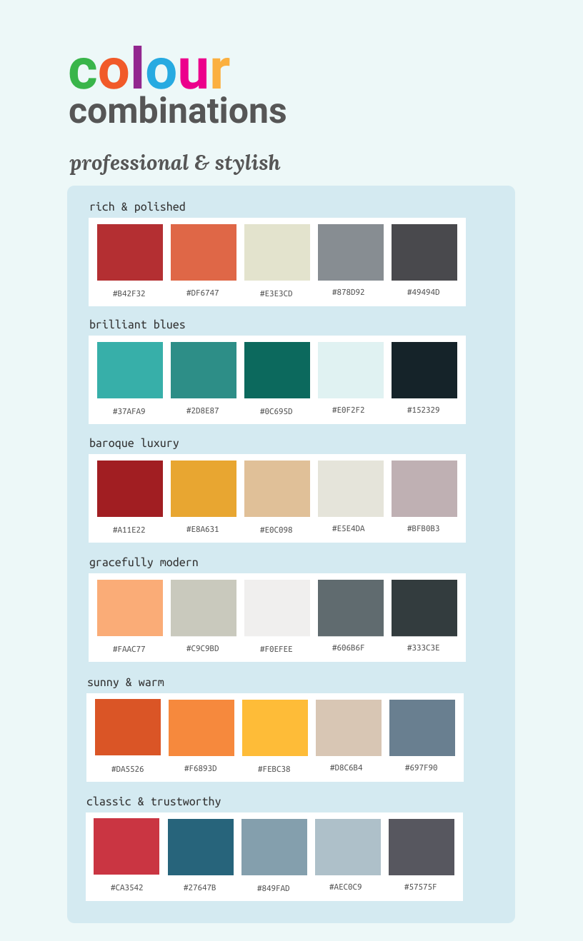 Color combination examples
