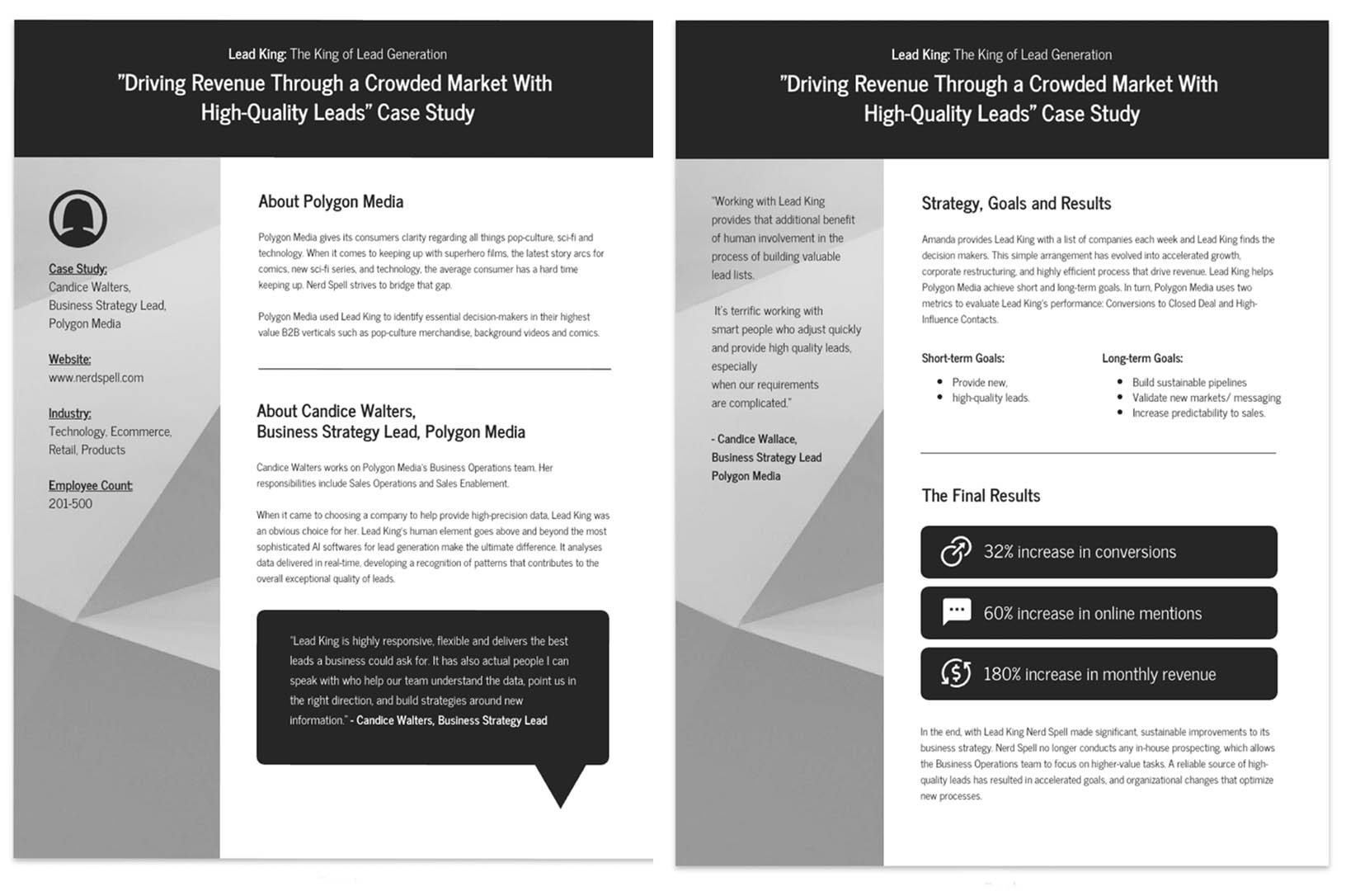 Gray Lead Generation Business Case Study Template