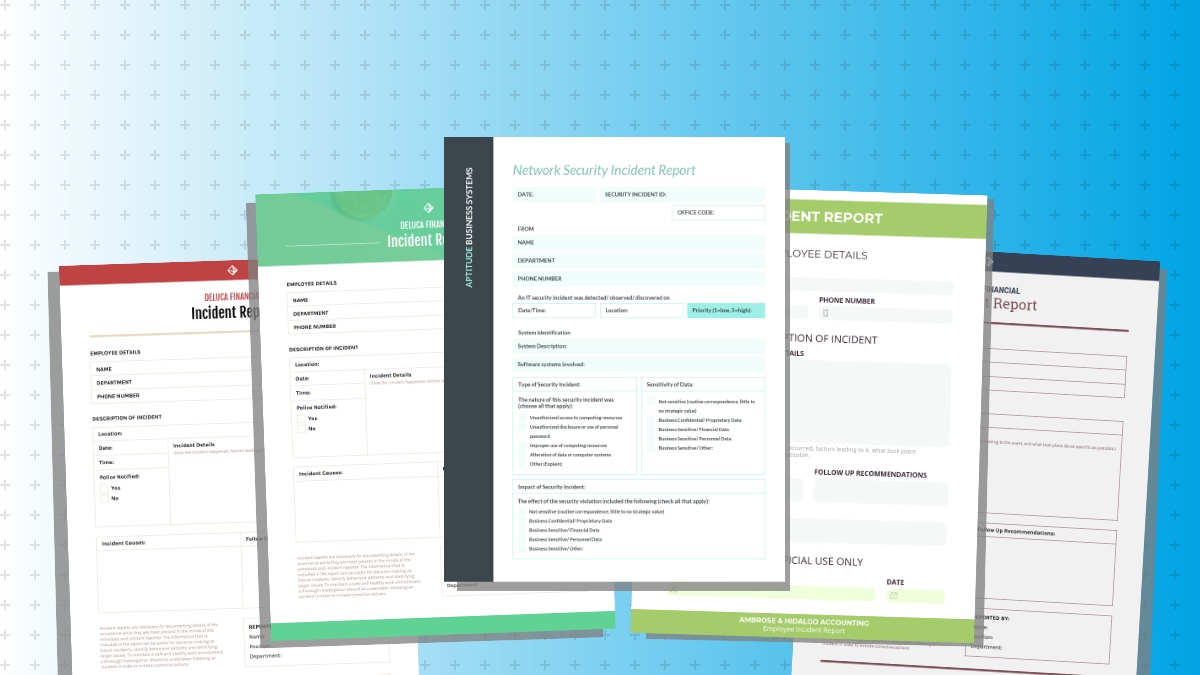 Incident Report Examples and Templates Venngage
