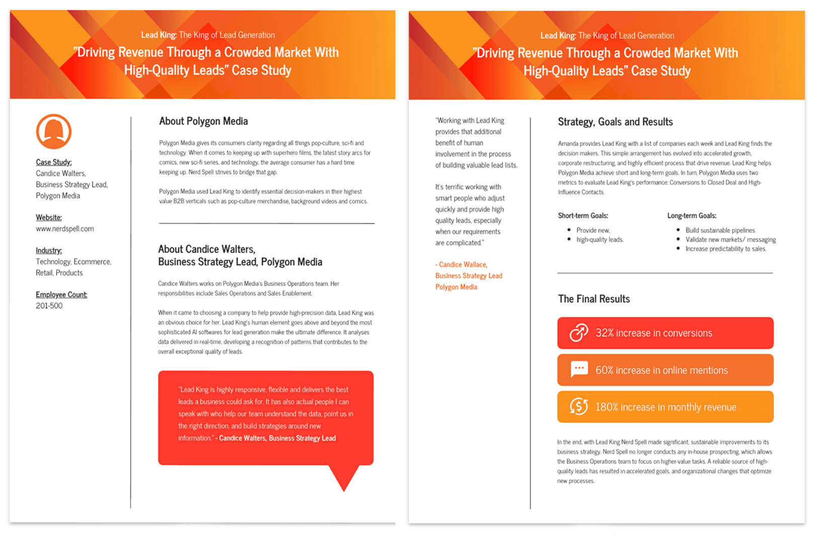 Modern lead Generaton Business Case Study Template