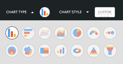 Chart options in Venngage's editor