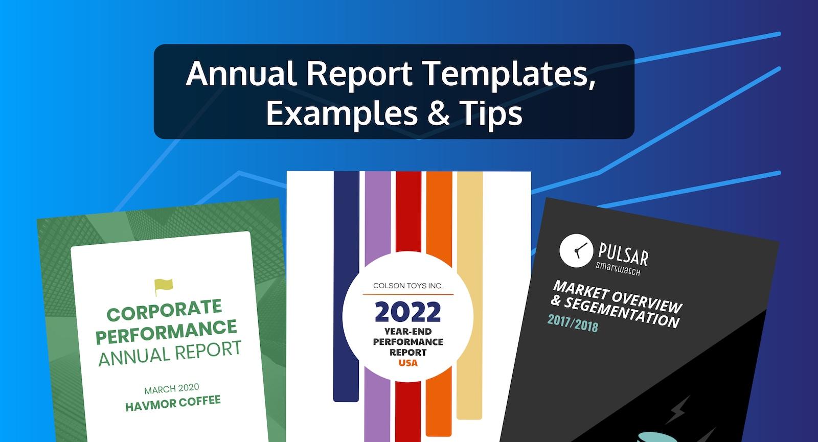 أكثر من 50 قالب تقارير سنوية سهلة التخصيص وإرشادات لتصميمها