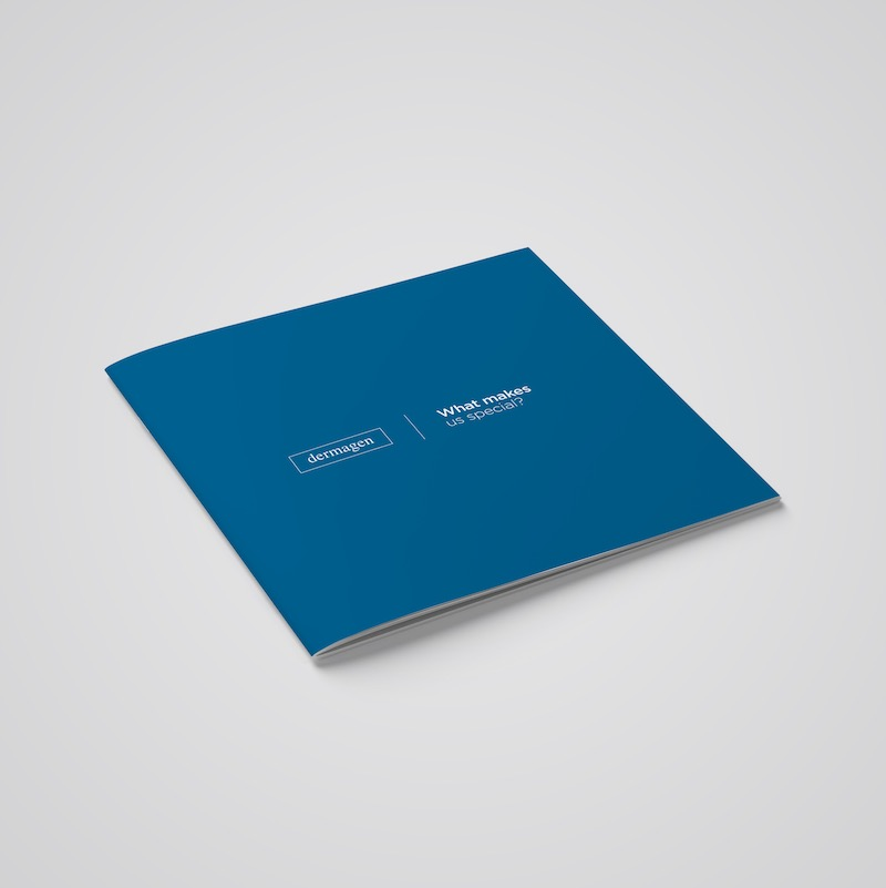 Blue Dermagen Brochure Design