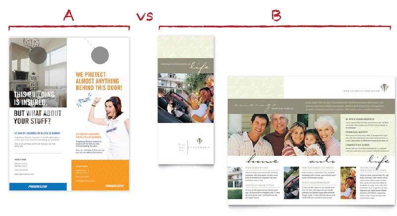 Brochure Layout Example and Comparison