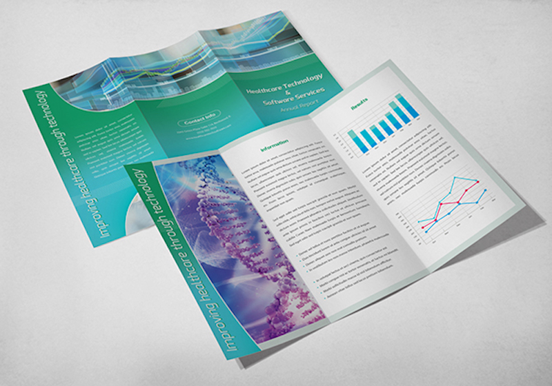 Light Green Brochure Design with Data Visuals