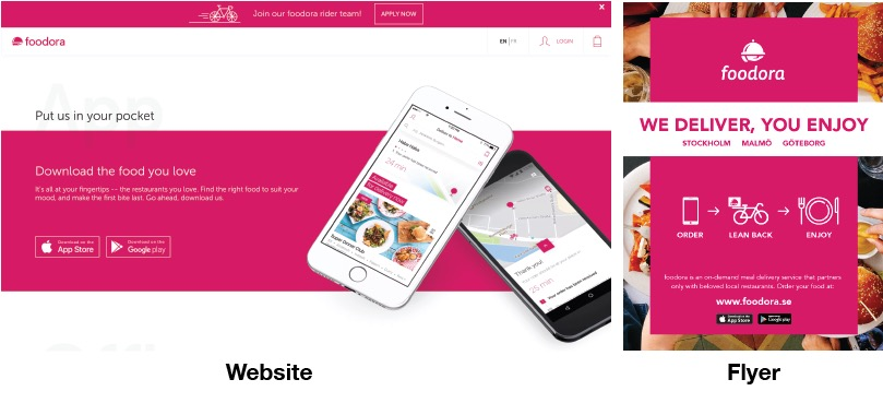 Foodora Website And Brochure Design