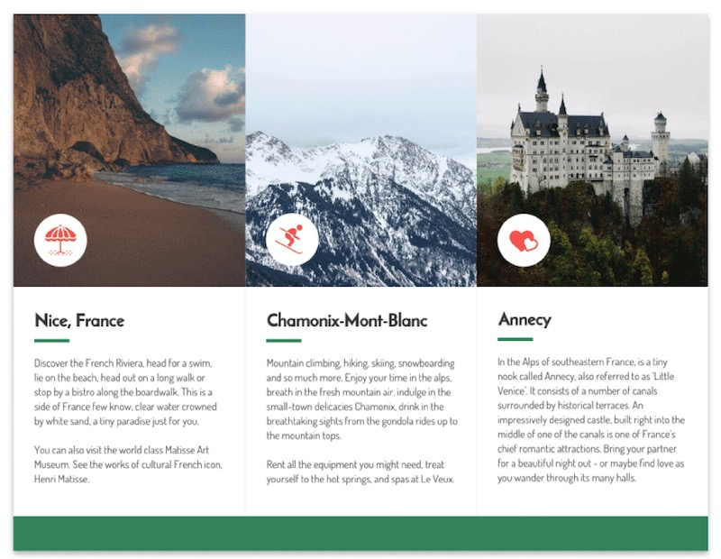 Interior Layout France Tri Fold Travel Brochure Template