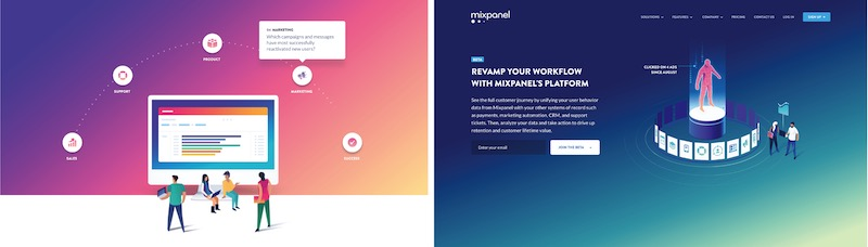 Mixpanel Landing Page Examples
