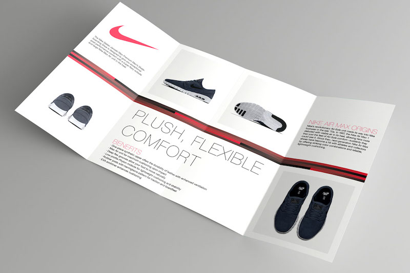 Professional White Nike Product Brochure Example
