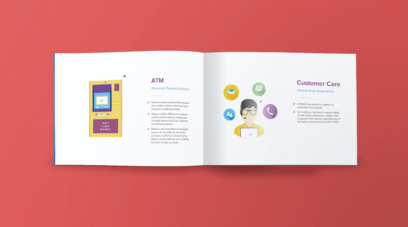 Payism Brochure Example with Illustrated Icons