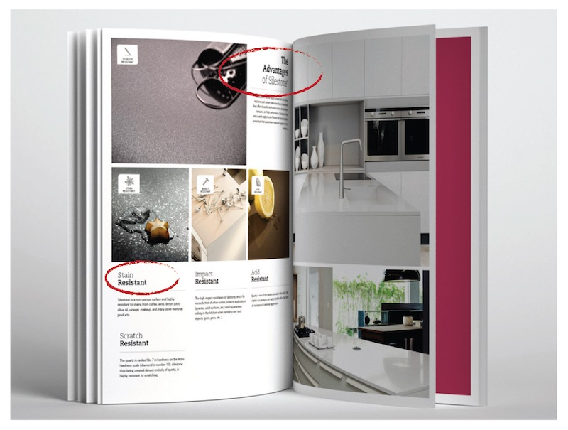 Silestone Brochure Layout Example