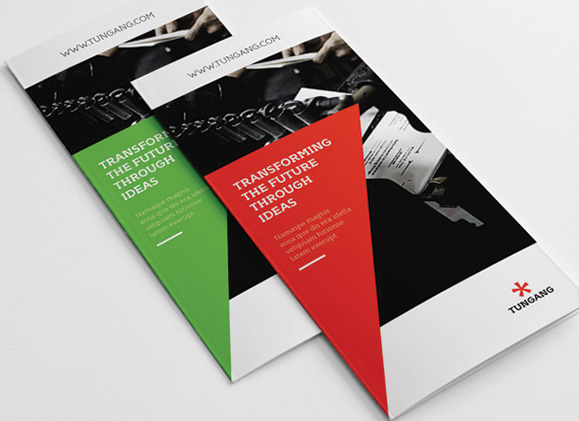 Tungang Red and Green Brochure Examples, Transforming the Future