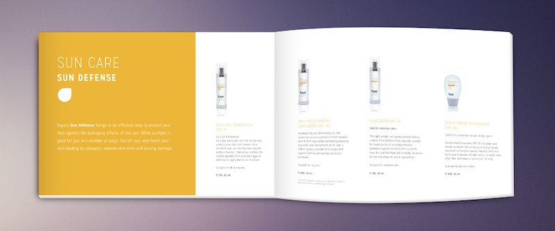Professional Brochure Layout with White Space Example