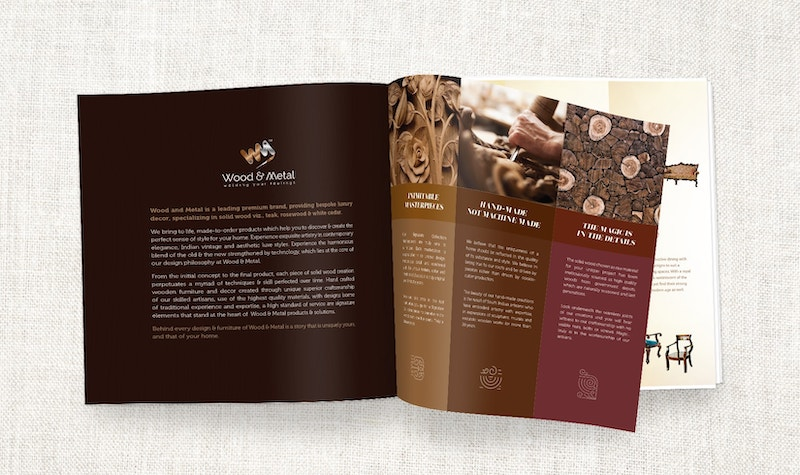 Wood and Metal Brochure Design