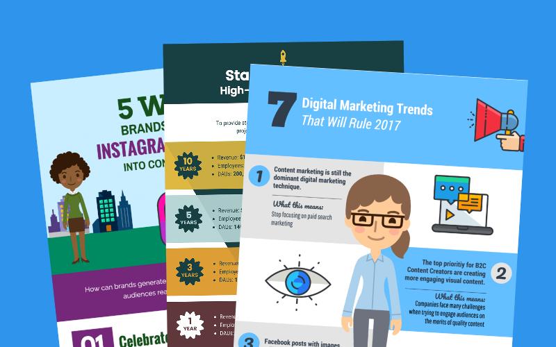 marketing infografikskabelon