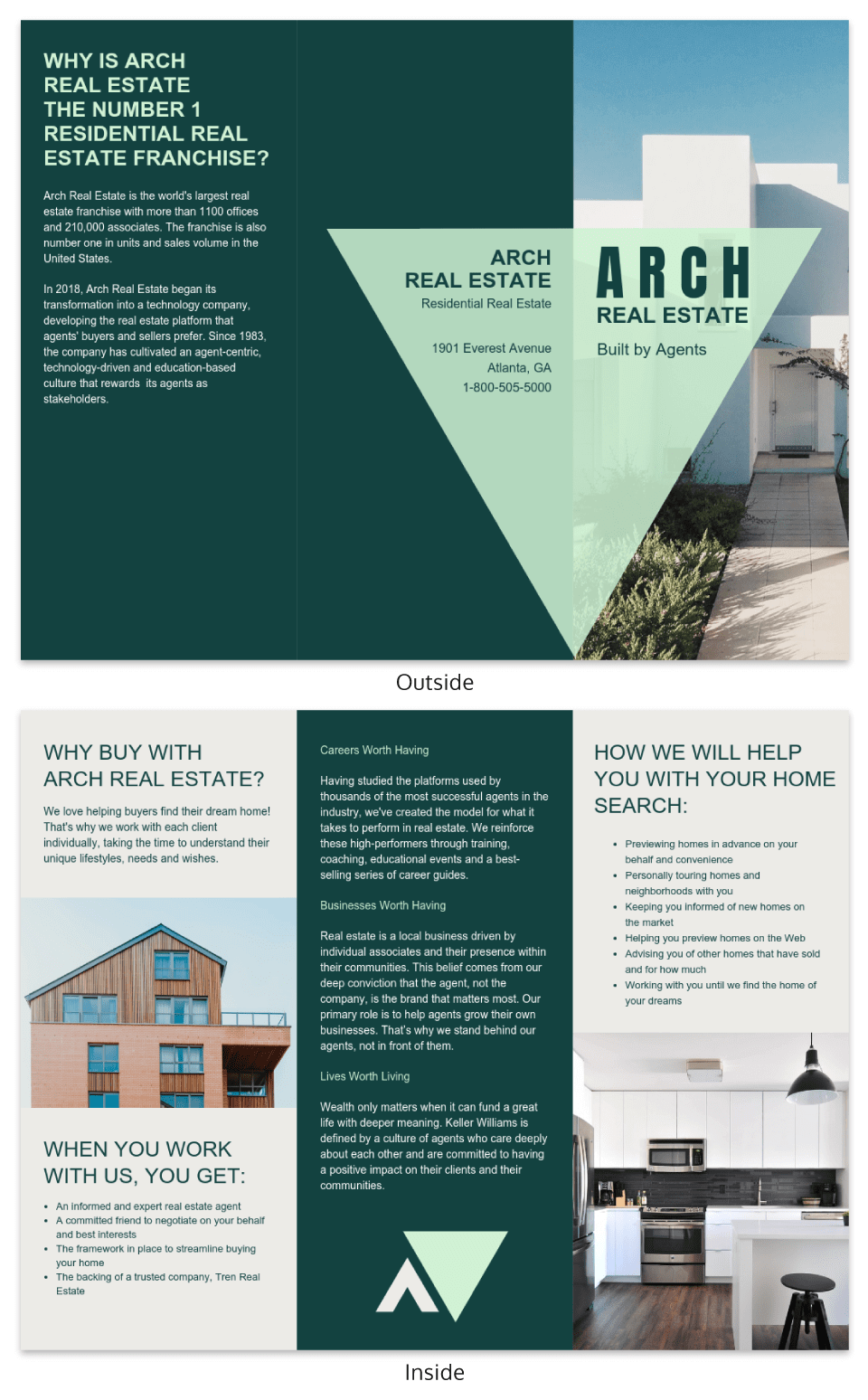 Green real estate marketing template