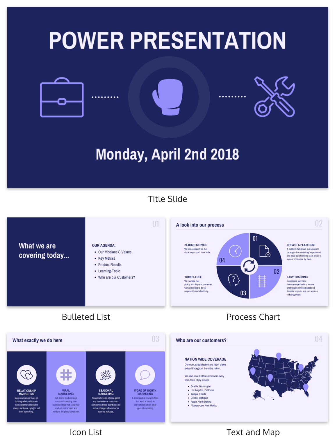 Purple Startup Pitch Deck Presentation Ideas