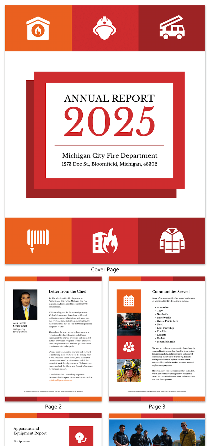 annual report design template