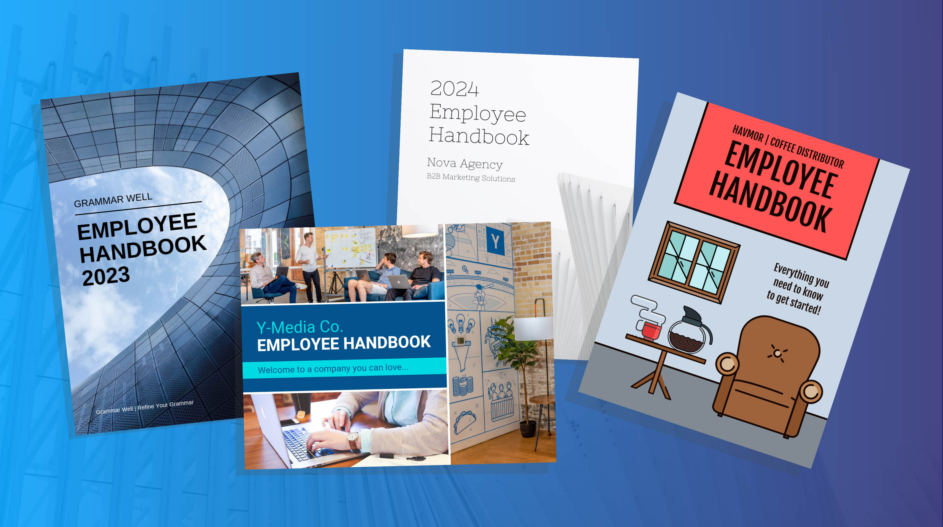 Employee handbook templates blog header