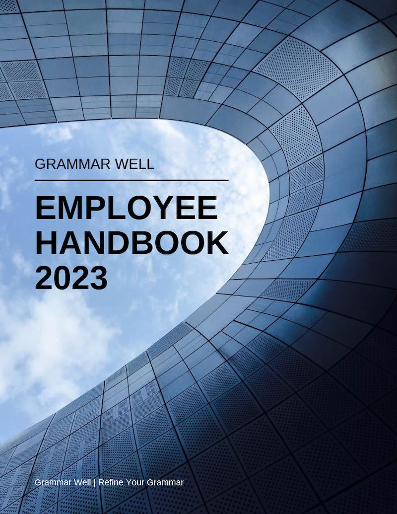 Grammar well employee handbook template