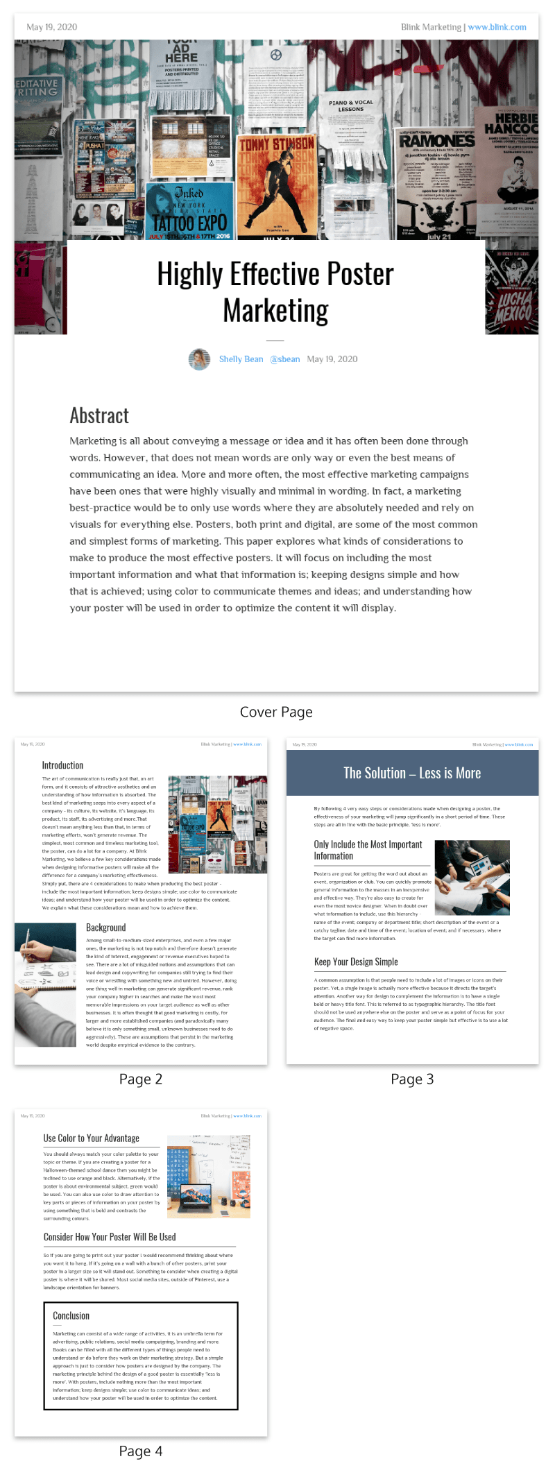 Modern Poster Marketing White Paper Examples