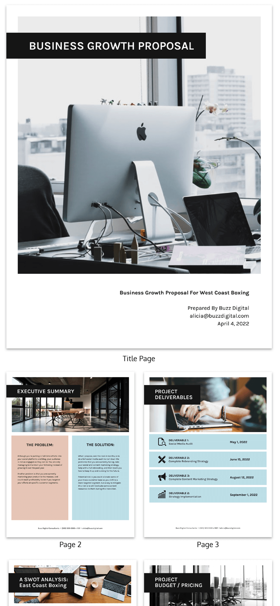 Simple B2C Consulting Business Proposal Template