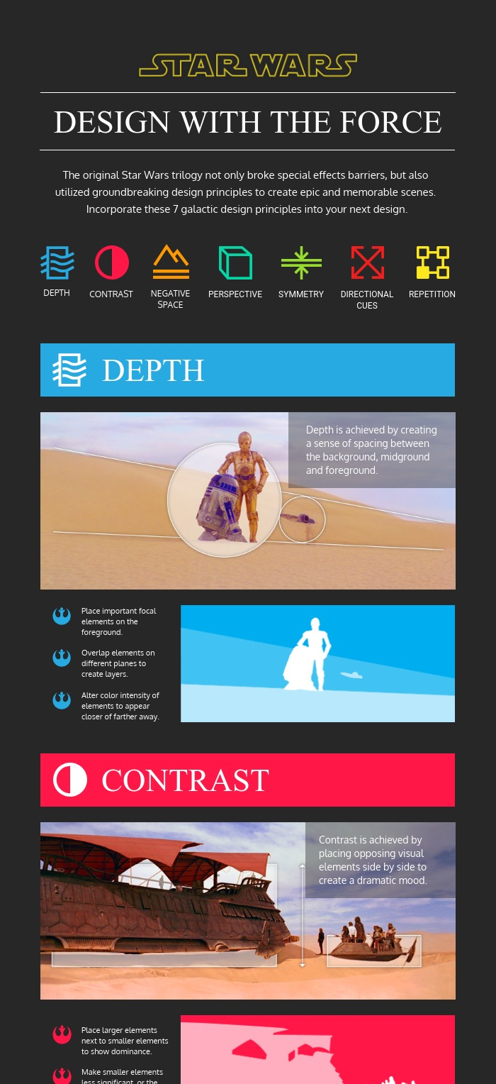 Star Wars Design Principles Creative Infographic Template