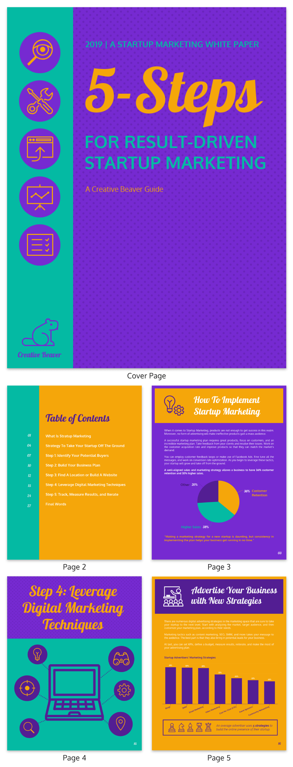 Vibrant Startup Marketing White Paper Examples
